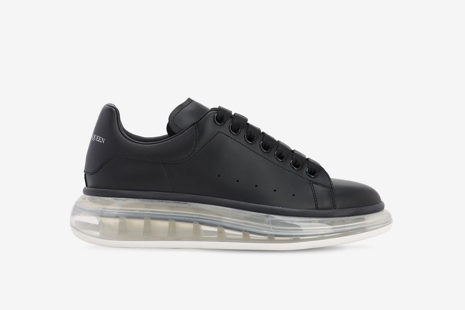 Air Sole Platform Leather Sneakers
