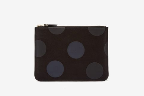 Spot-Print Cotton-Twill Pouch