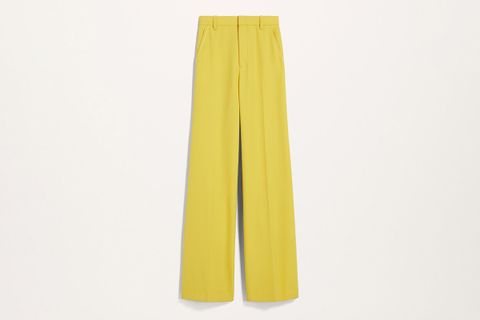 Flat Front Flared Pants