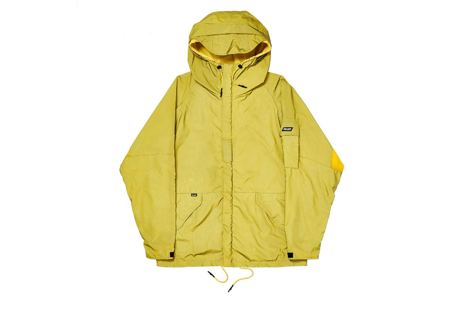 Palace 2019 Autumn Jacket Deflector yellow reflective front fw19