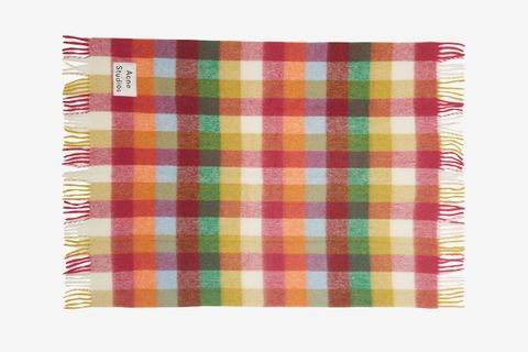 Logo-Patch Checked Blanket