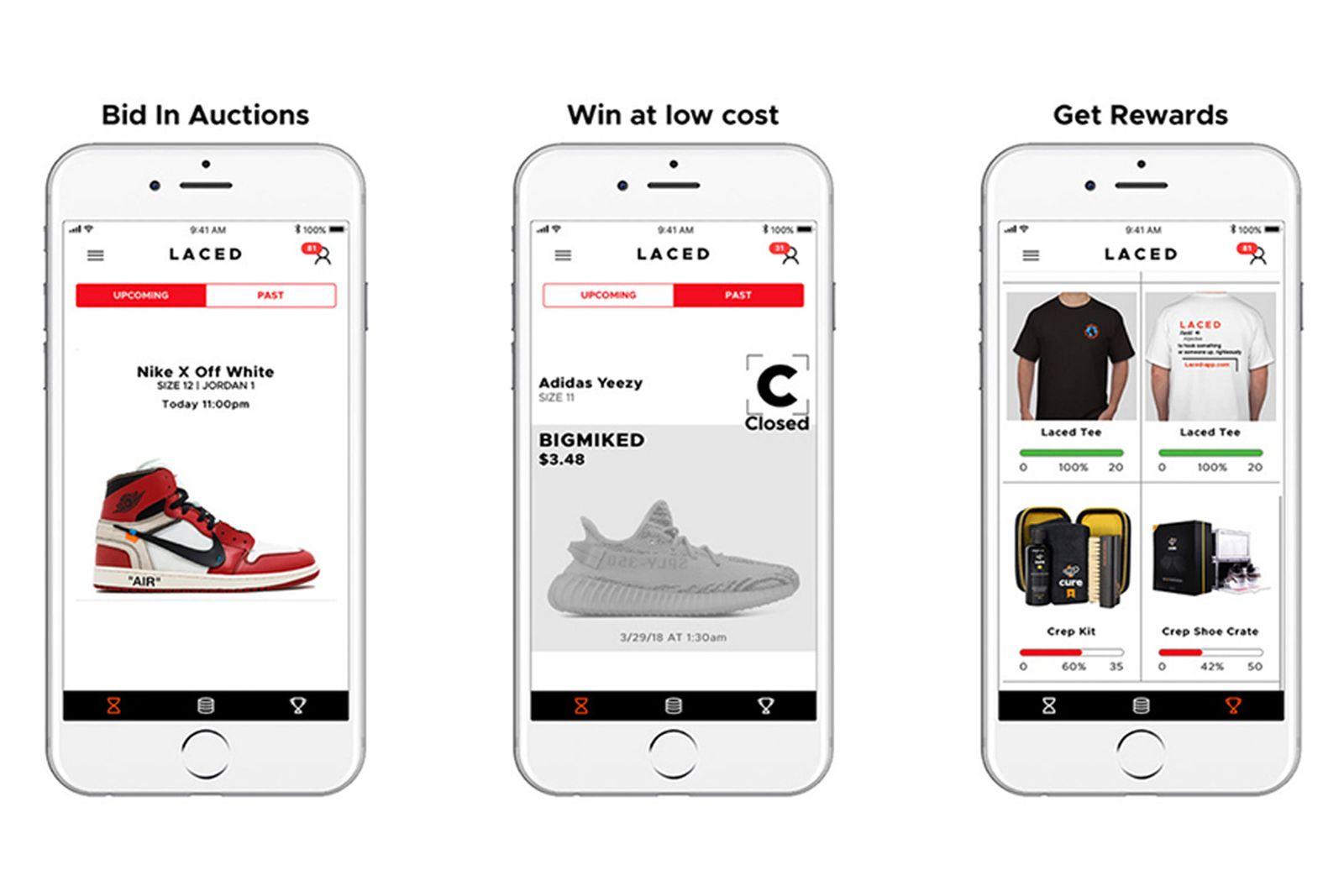 laced sneaker app