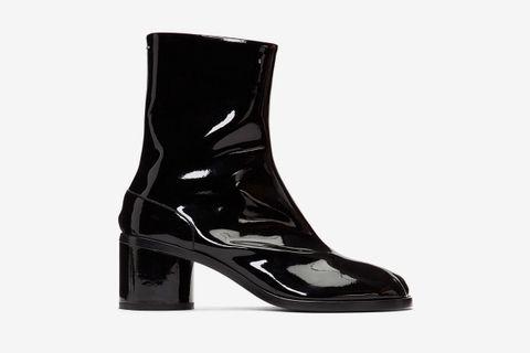 Patent Tabi Boots