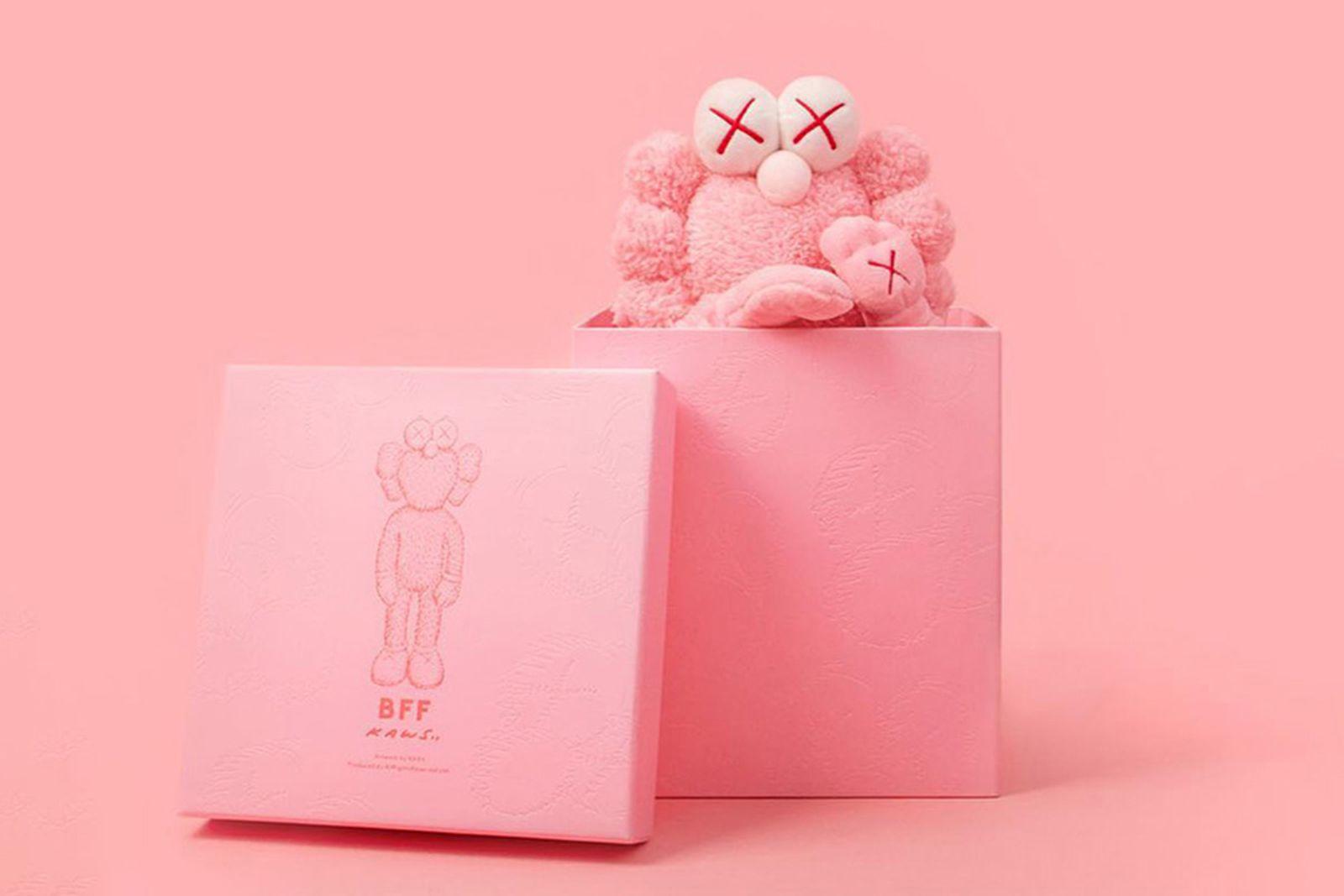 kaws bff pink plush buy