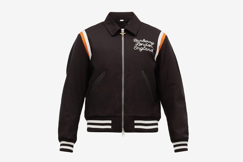 Epping Embroidered Cotton Varsity Jacket
