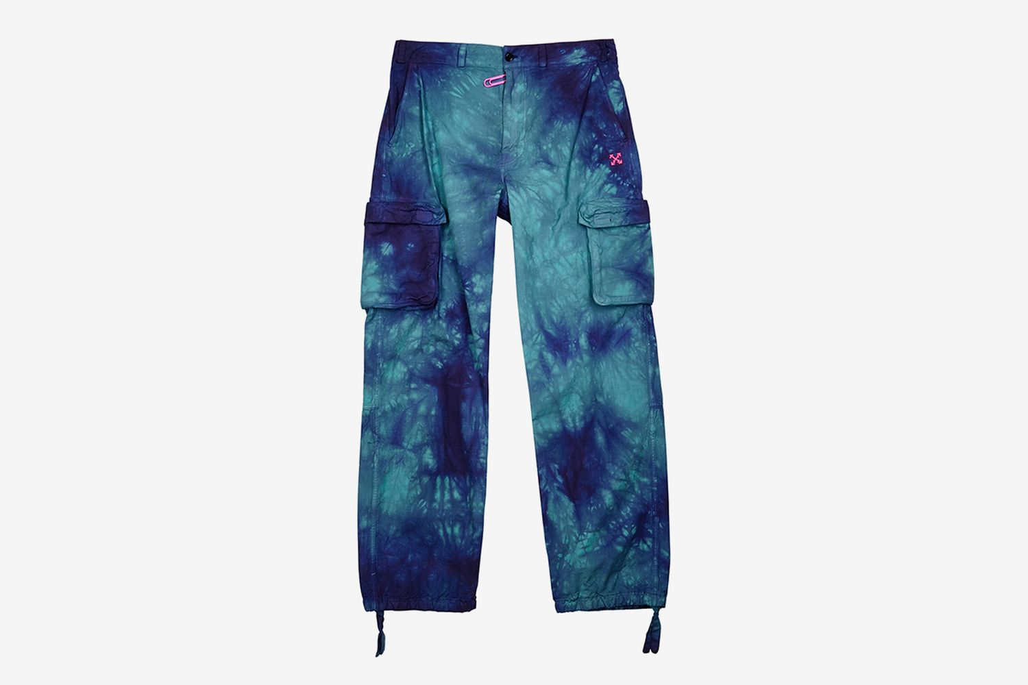 Tie-Dyed Cotton Cargo Trousers