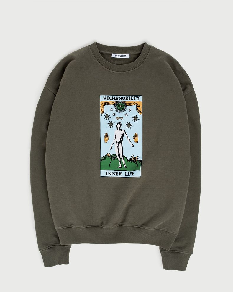 Highsnobiety — Inner Life Sweatshirt Light Military Green