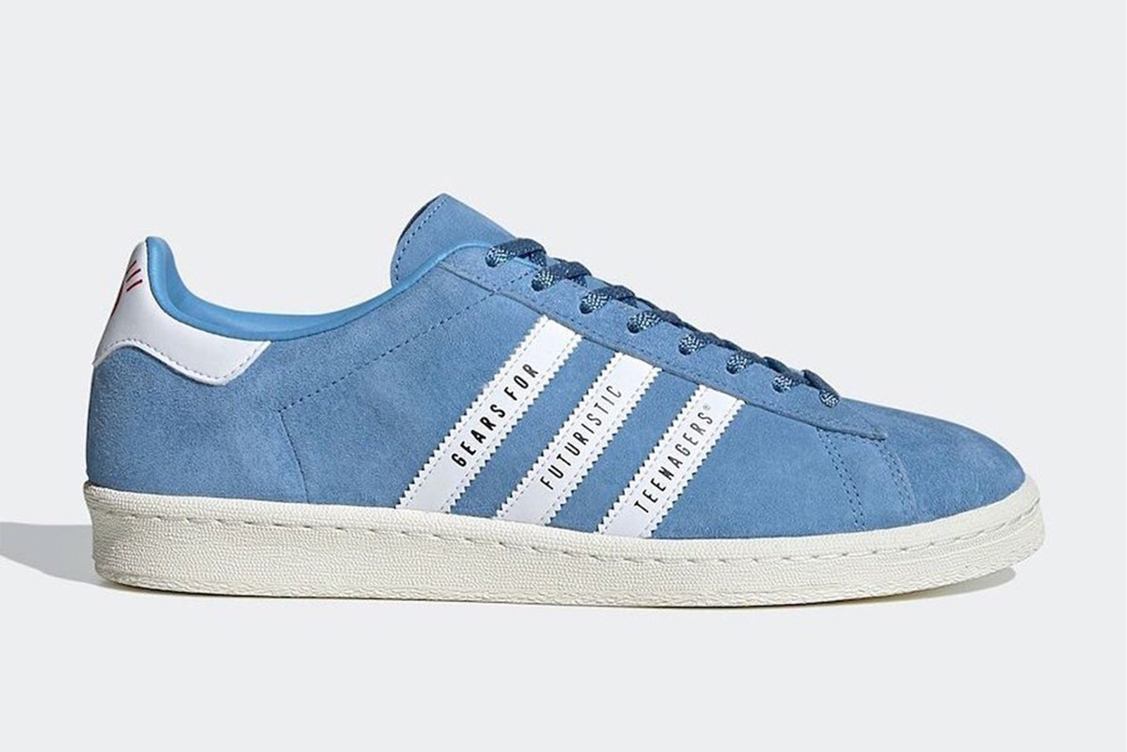 Human Made x adidas Campus in light blue suede