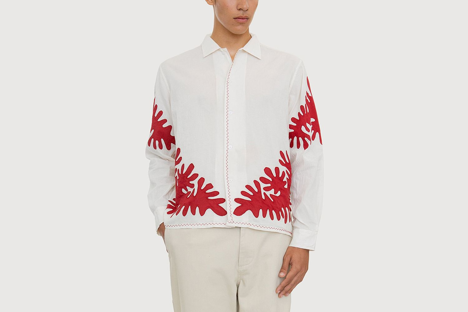 Cut-Out Applique Shirt