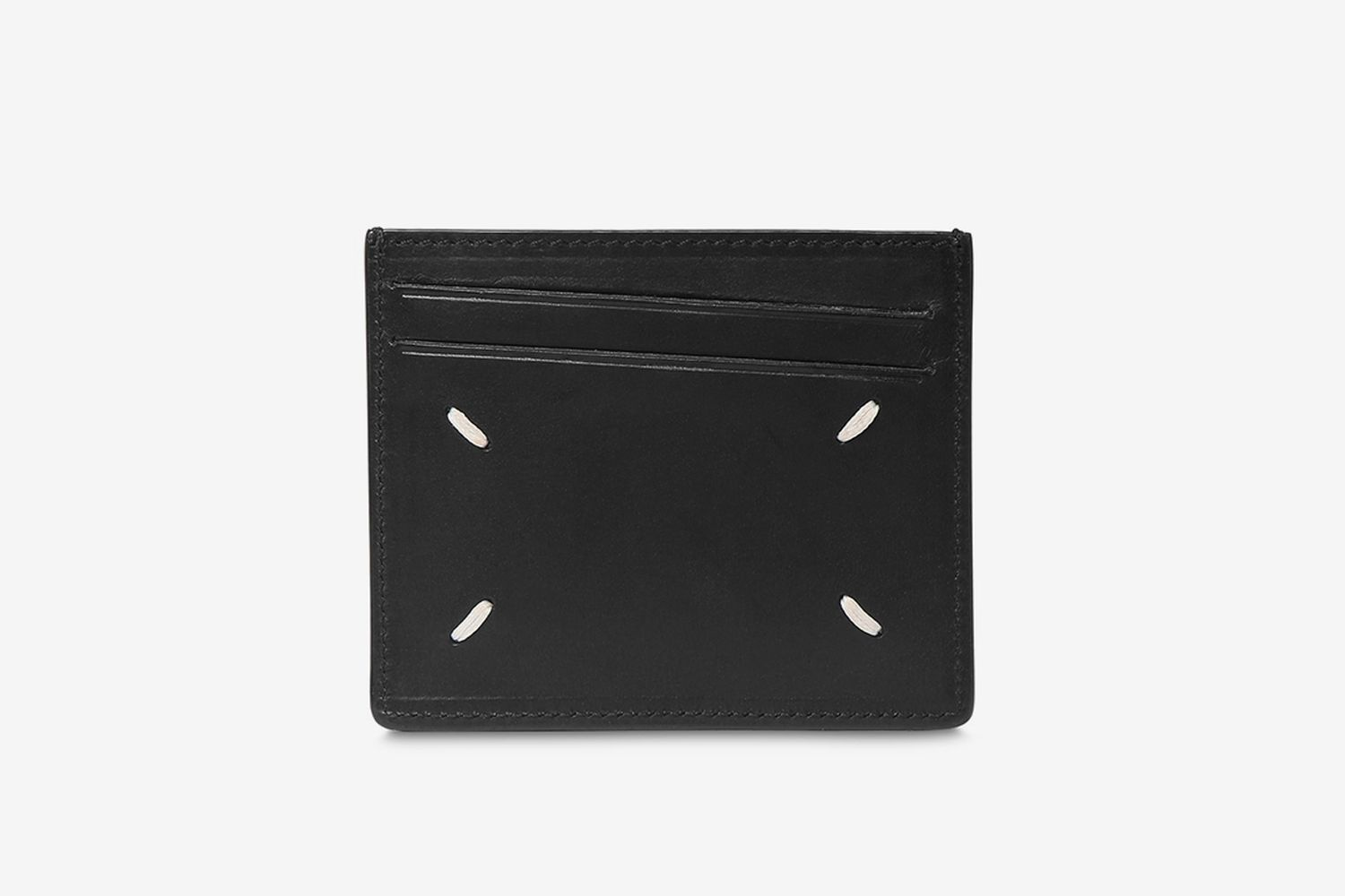 Logo Print Leather Card Holder