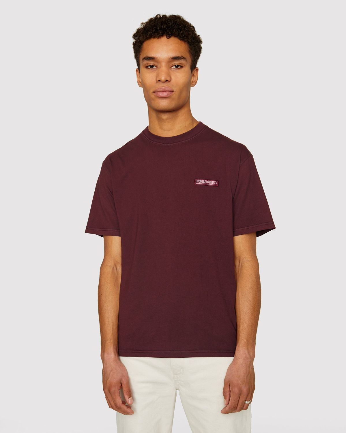 Highsnobiety Staples — T-Shirt Burgundy - Image 2