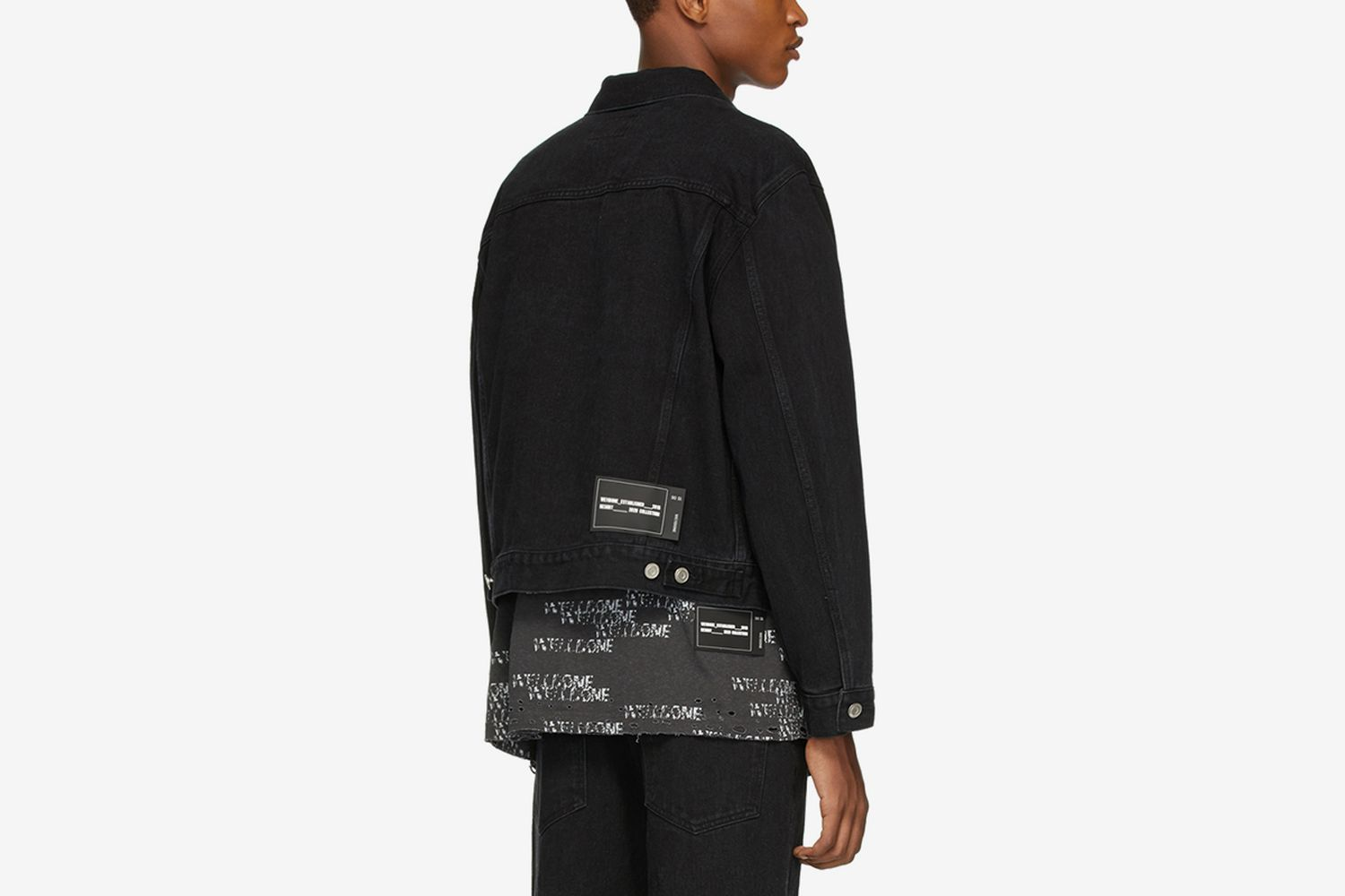 SSENSE Exclusive Denim Incomplete Jacket