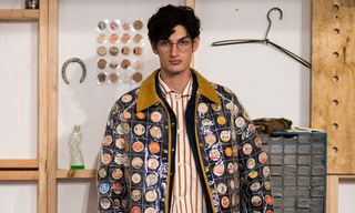 BODE Shows Raincoats Filled With Pennies & Milk Caps at New York Fashion Week