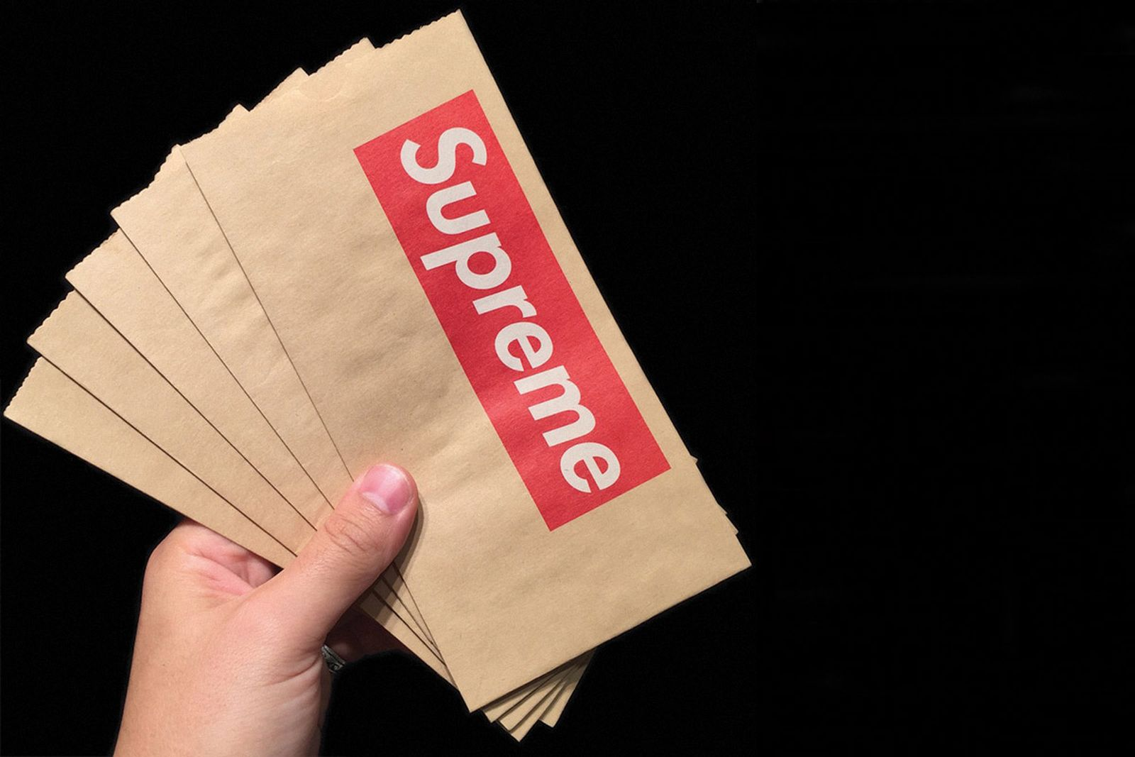 supreme accessories paper bags