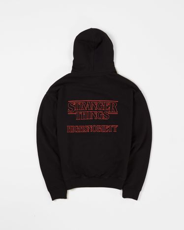 Stranger Things 3 x Highsnobiety Logo Hoodie - Black