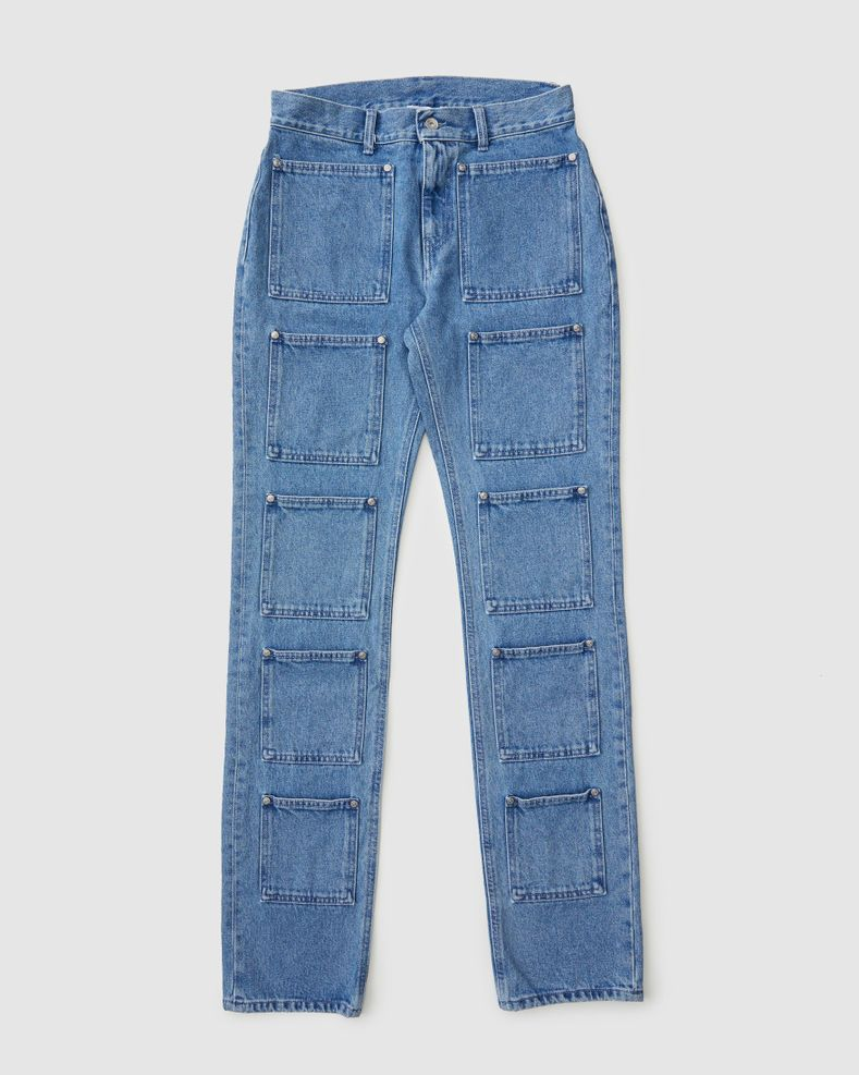 Lourdes NYC — Multi-pocket Denim Blue