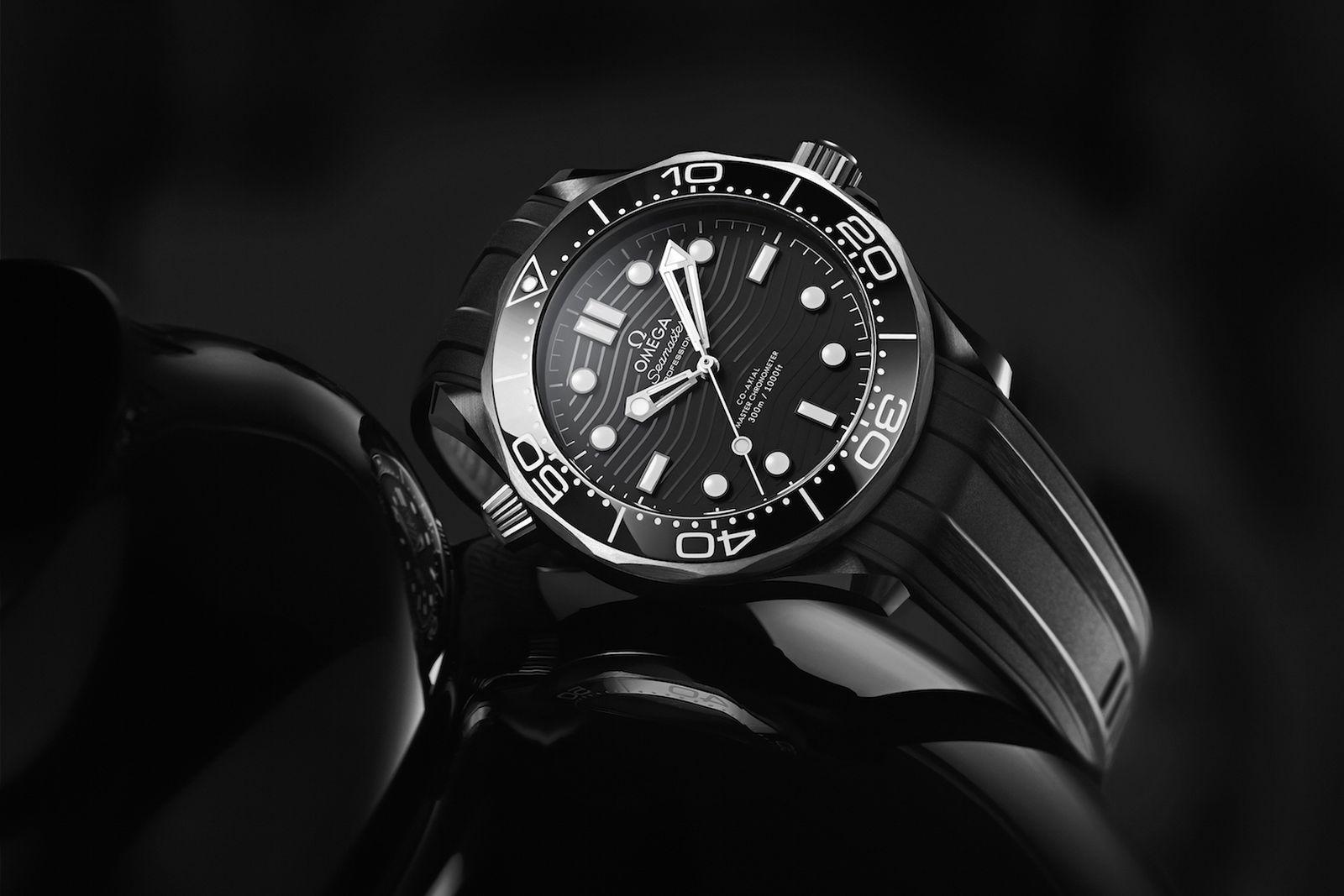 omega seamaster diver 300m black ceramic titanium