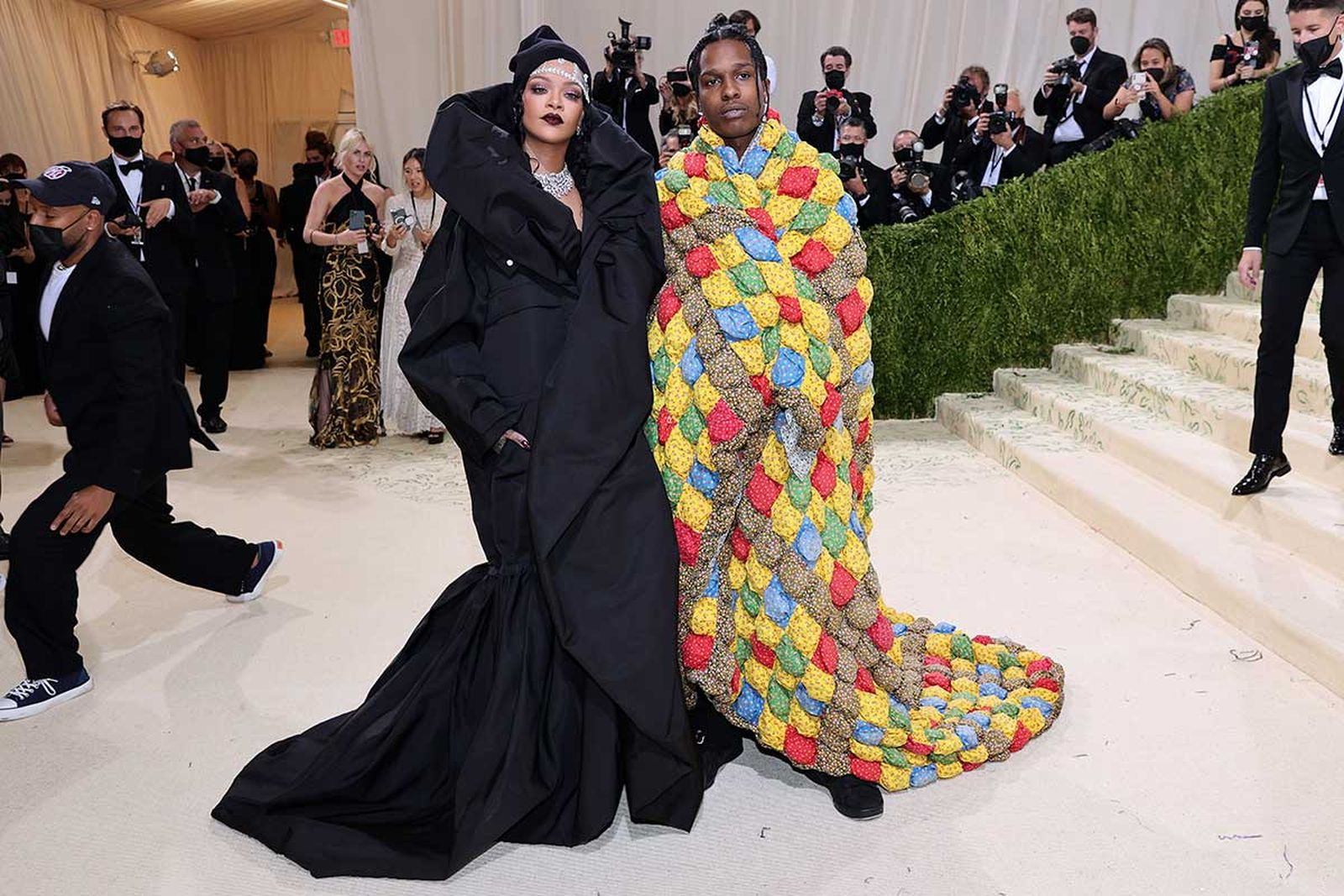 met gala 2021 celebrity style looks best outfits red carpet asap rocky rihanna