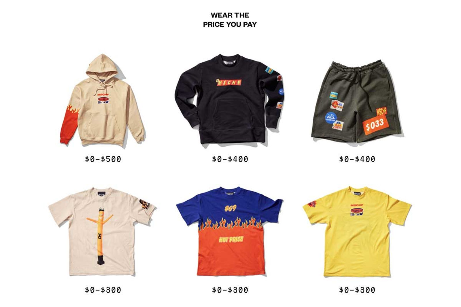 MSCHF at all costs clothing collection (0)