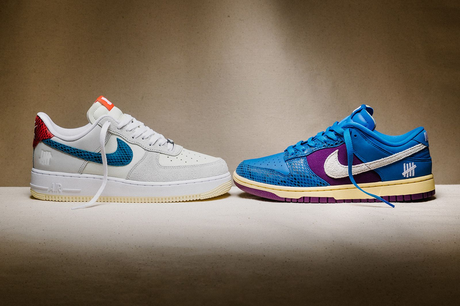 UNDEFEATED Nike Dunk vs. Air Force 1