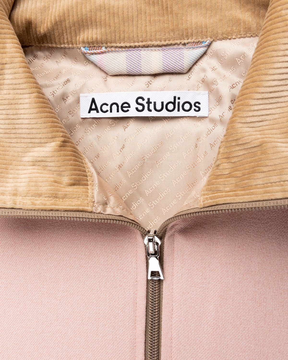 Acne Studios – Checked Twill Jacket Blossom Pink - Image 3