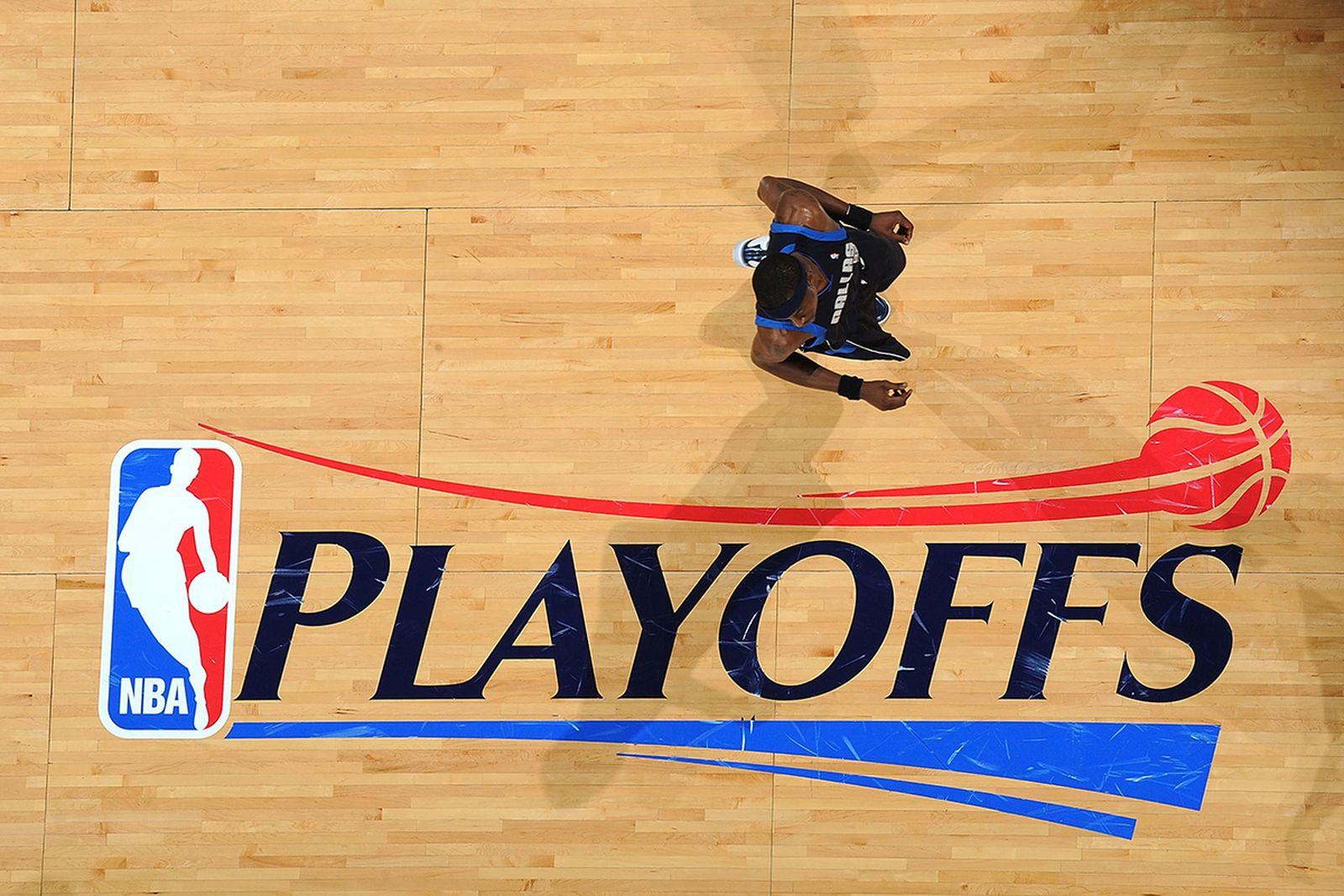 NBA logo court