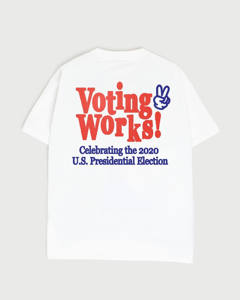 (pre-order) Voting Works 2020  T-Shirt White