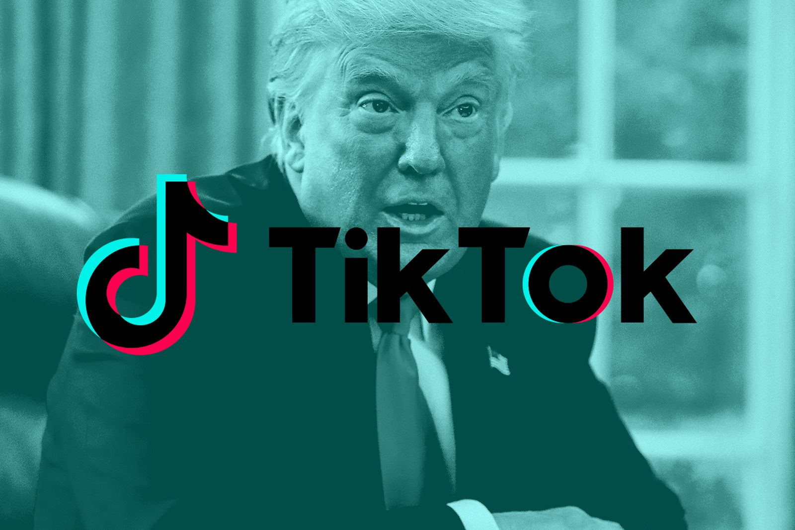 "Trump image with ""TikTok"" overlaid text"