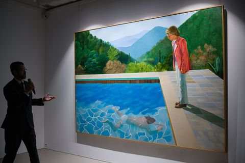 david hockney highest selling living artist jeff koons