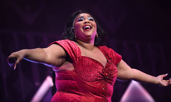 Lizzo performing at iHeart Radio's Jingleball 2019