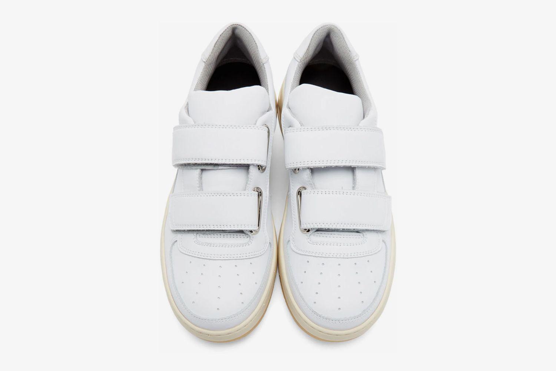 White Perey Strap Sneakers