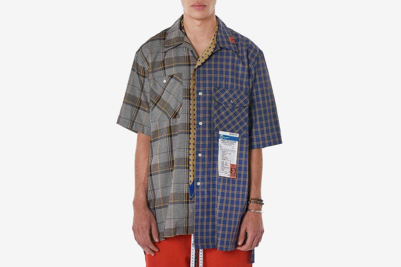 Asymmetrical Collar Shirt