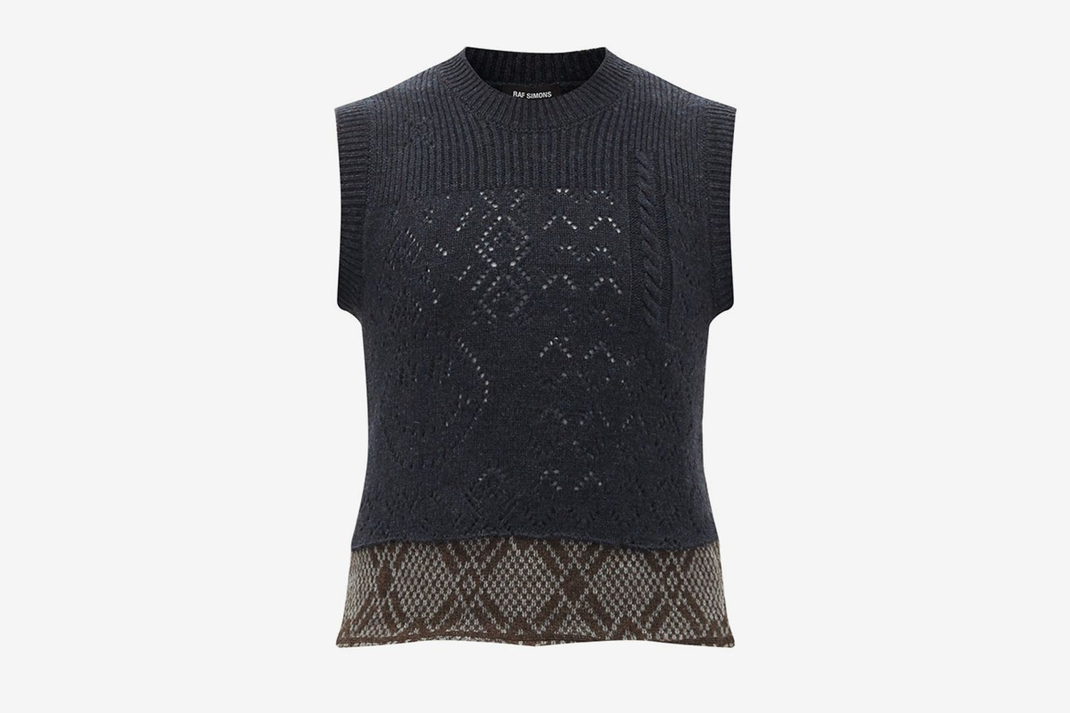 Smiley Knitted-Wool Tank Top