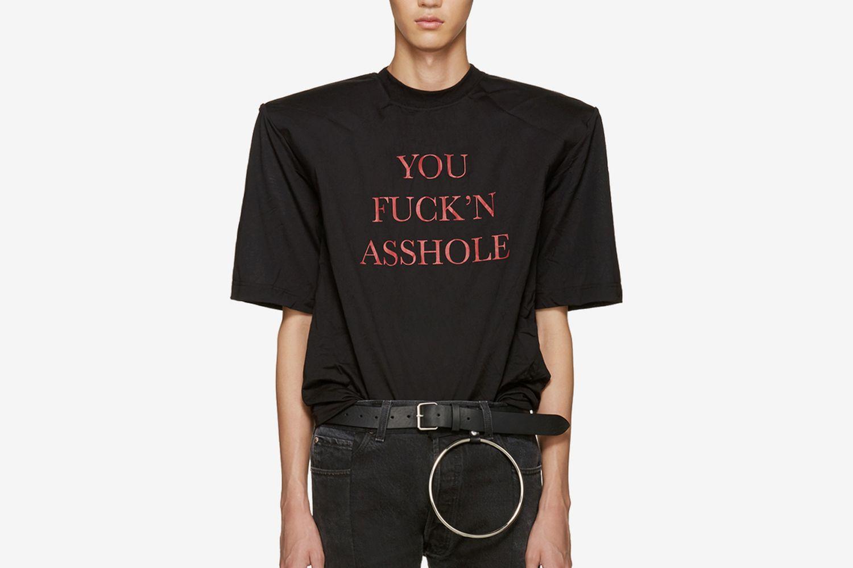 You Fuck'n Asshole Football Shoulder T-Shirt