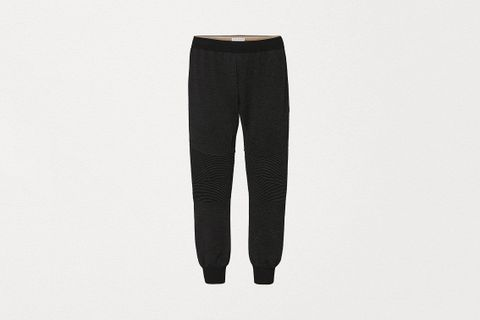 Knit Track Pants in Double Merino
