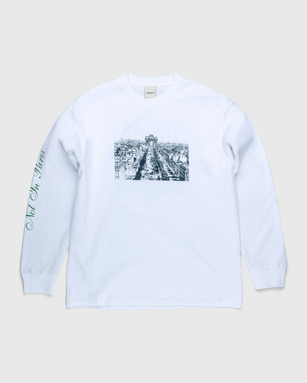 Highsnobiety — Not In Paris 3 Champs-Elysees Longsleeve White - Image 1