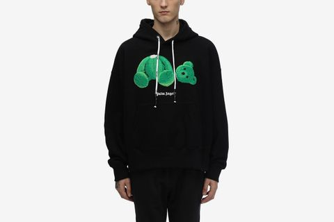 Hoodie with Bear Patch