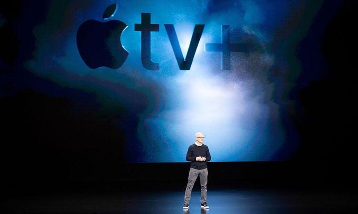 Tim Cook Apple TV+ background