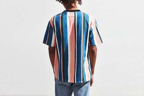 official site outlet online exclusive range GUESS David Sayer Striped Tee