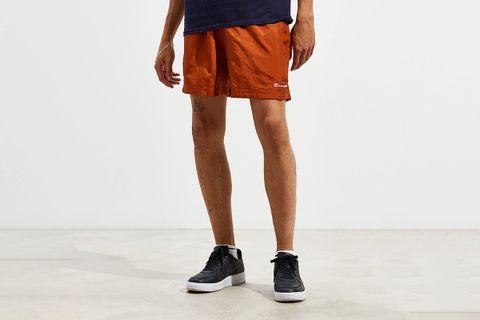 Nylon Brown Volley Short