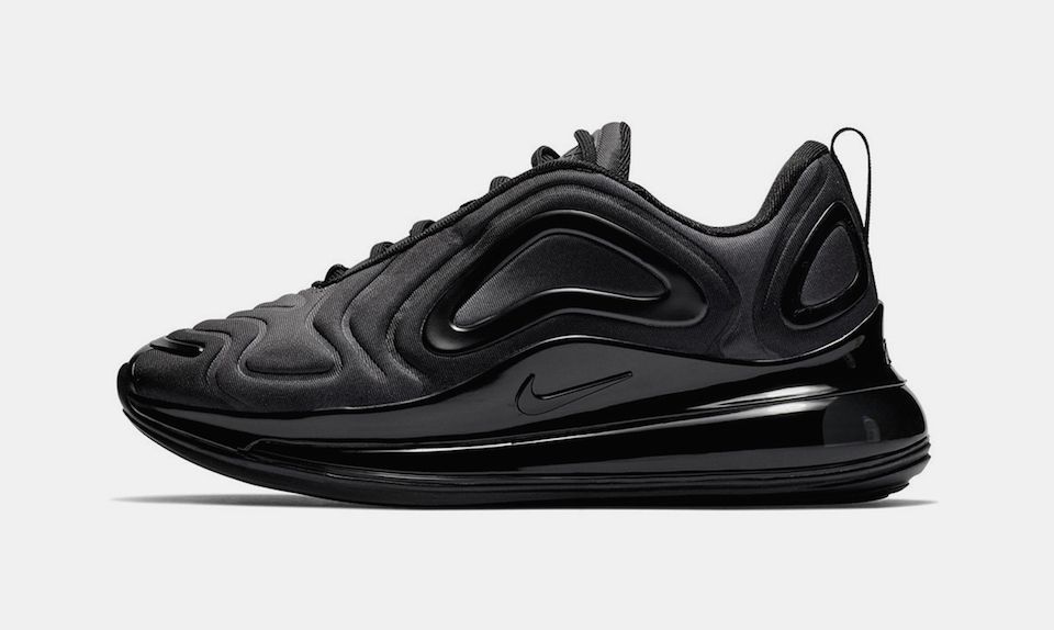 "new styles 6a69f a0696 Nikes Air Max 720 Debuts in Stealthy ""Triple Black"""