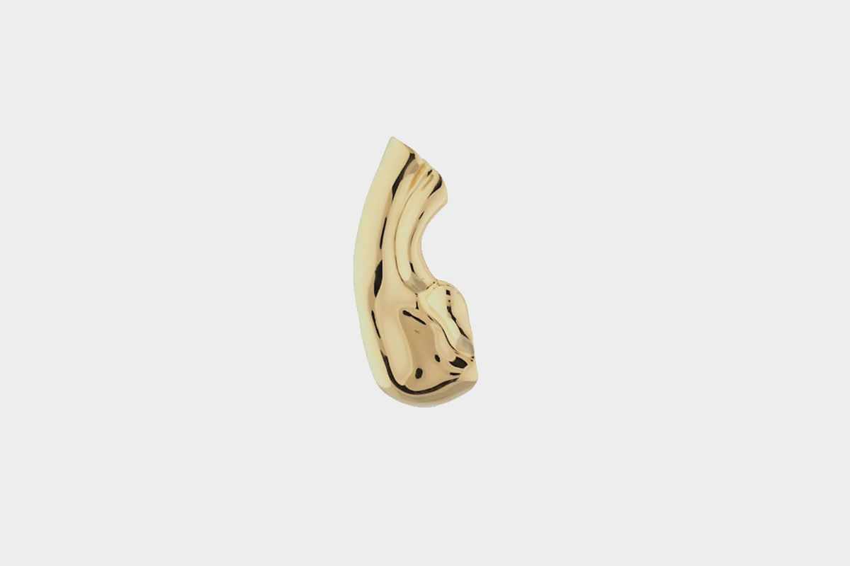 Single Clip Brass Mono Earring