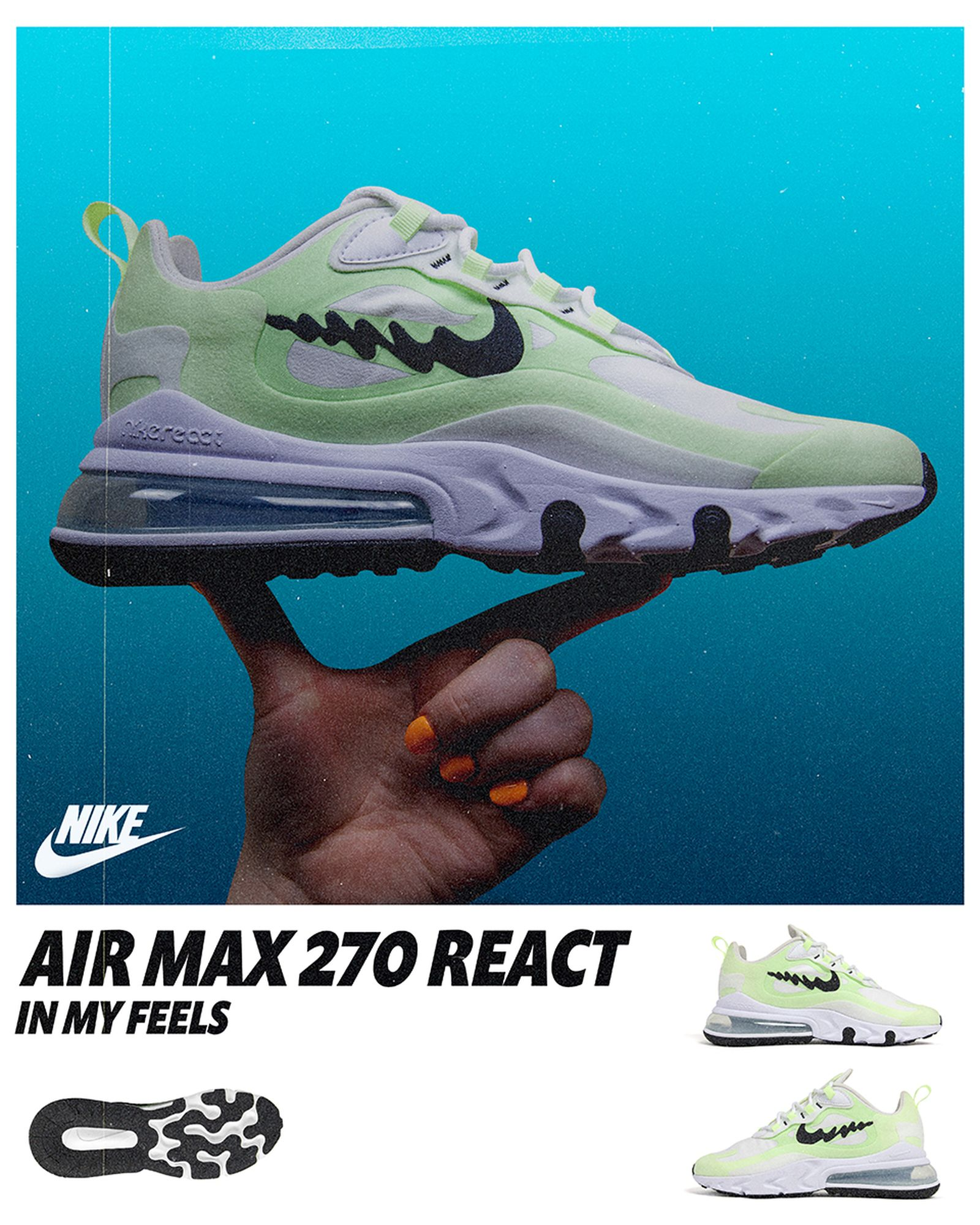nike air max 270 react in my feels release date price Liz Beecroft