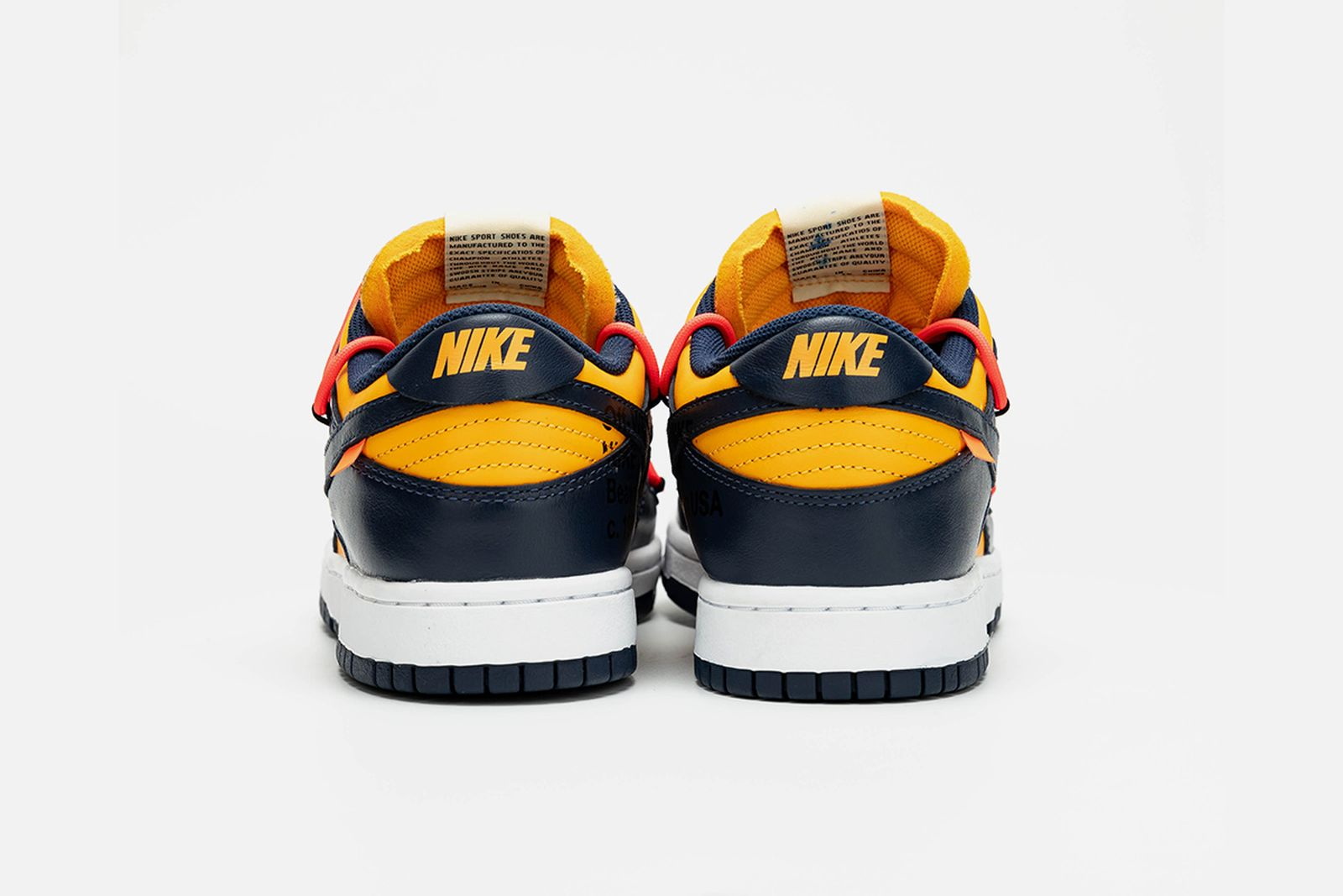 off white nike dunk low navy yellow release date price OFF-WHITE c/o Virgil Abloh nike x off-white