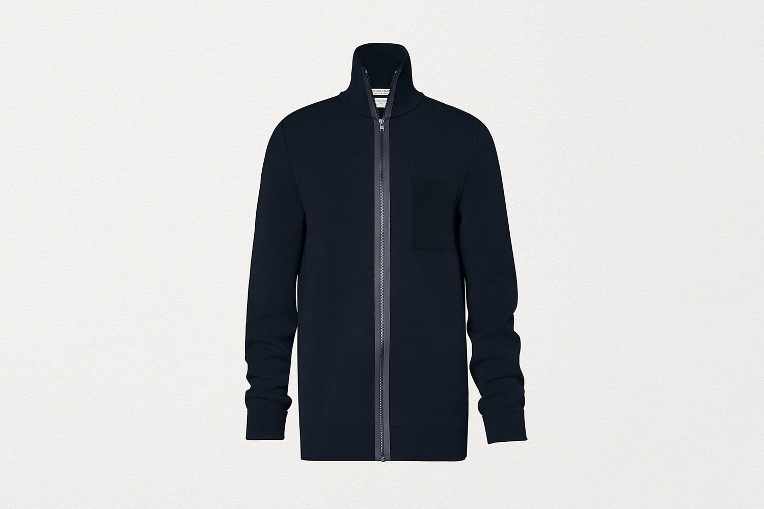 Track Jacket in Thick Scuba Knit