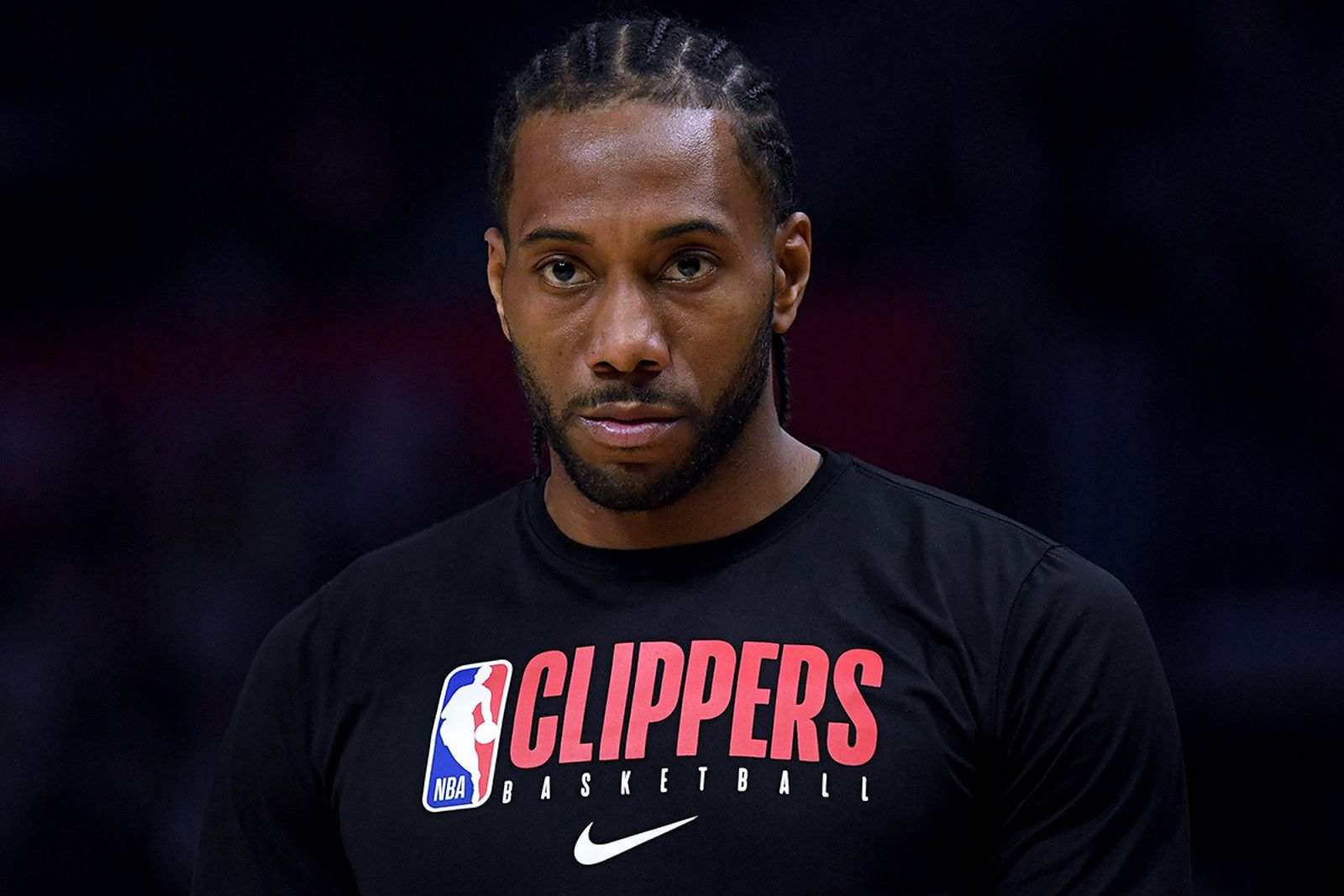 Kawhi Leonard #2 of the LA Clippers before the game against the Denver Nuggets