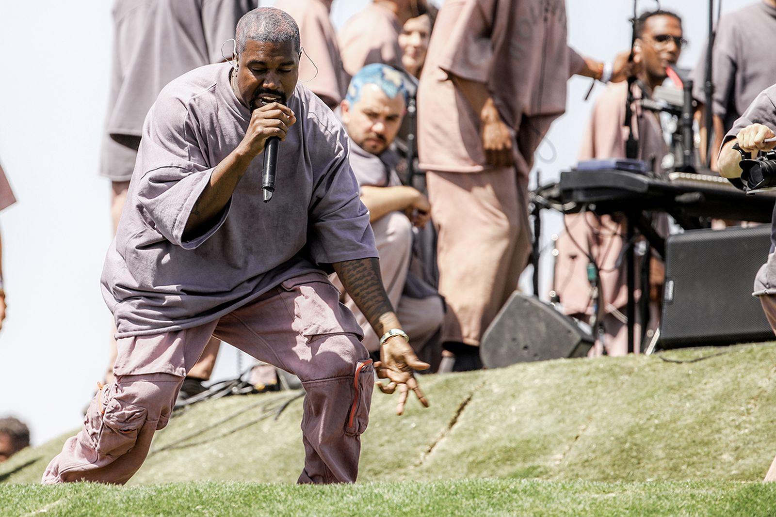 Kanye West performing Coachella 2019