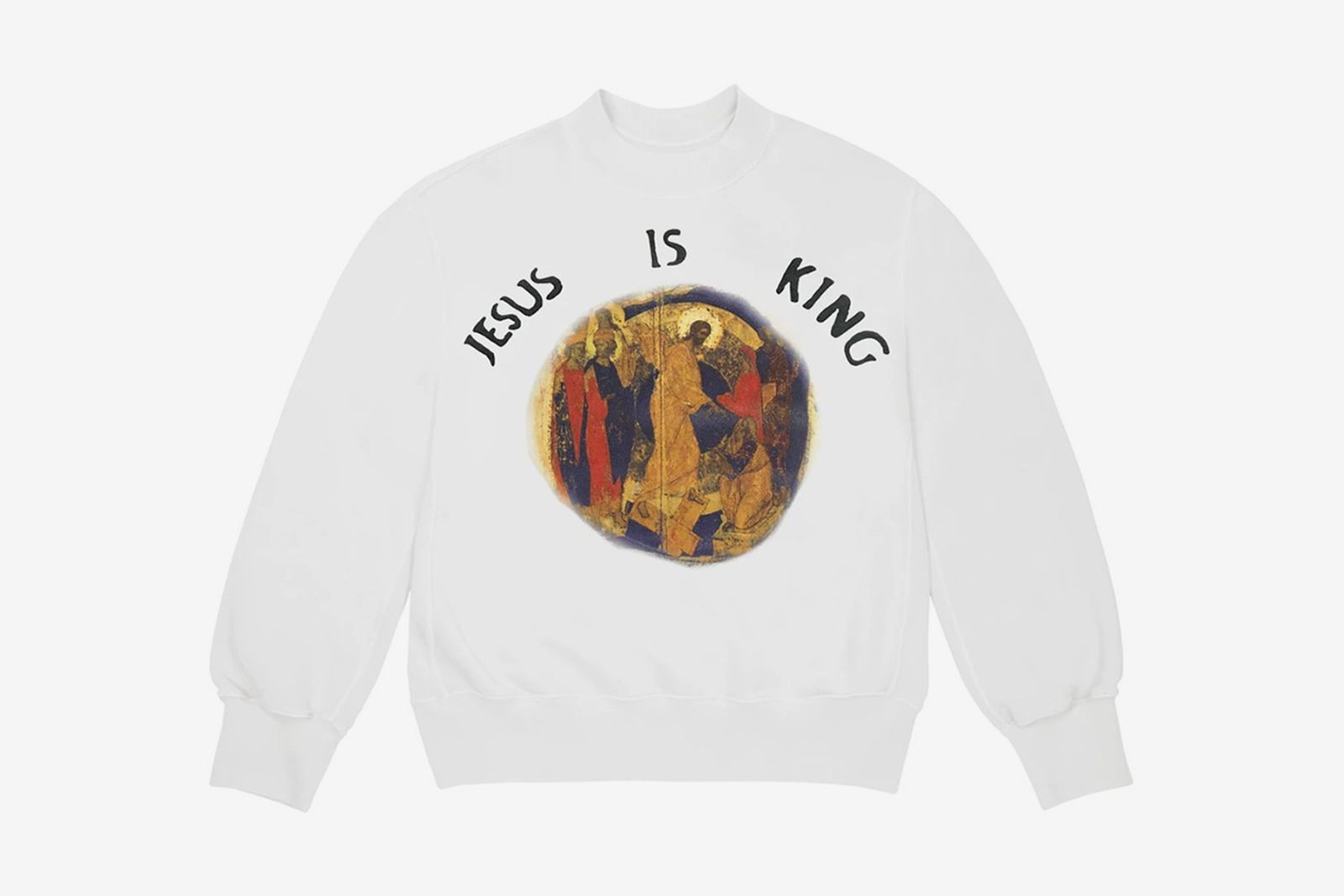 Kanye West Jesus Is King white crewneck sweatshirt