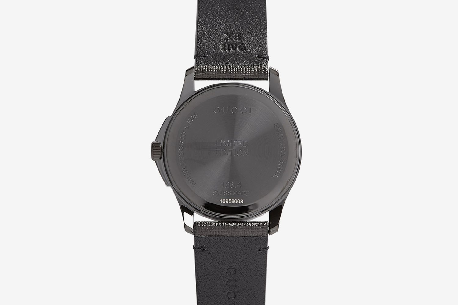 GG-Ghost Saffiano-Leather Watch