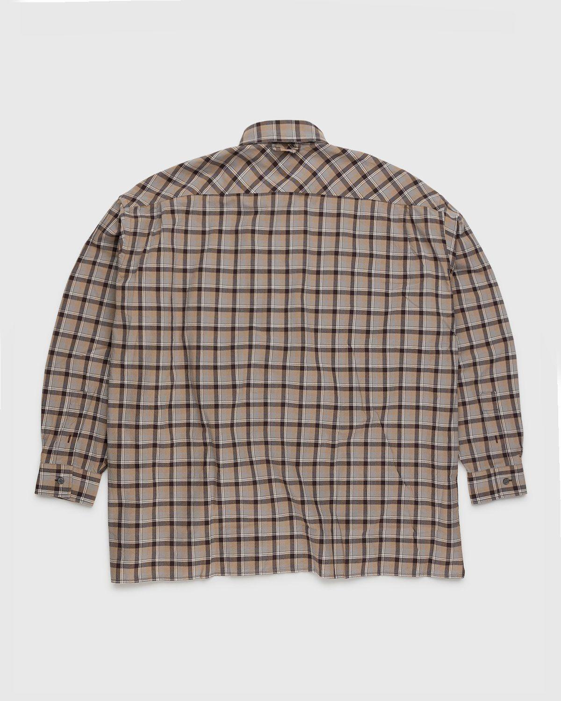 Acne Studios – Checked Shirt Brown - Image 2
